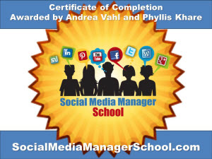 Social Media Manager School Certificate
