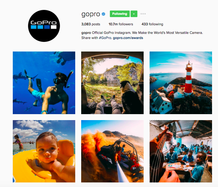 Best Instagram Brands: 10 Creative Brands to Follow for Inspiration: GoPro