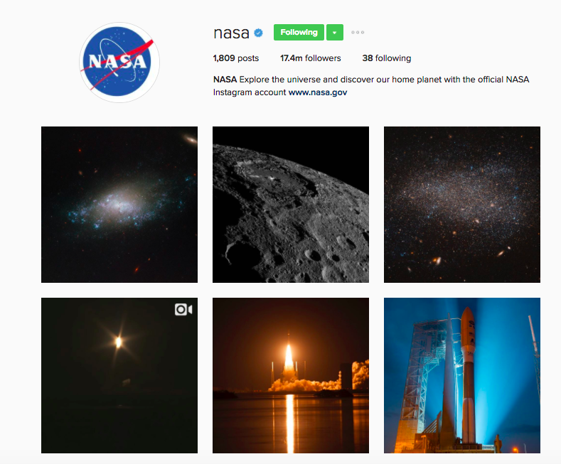 Best Instagram Brands: 10 Creative Brands to Follow for Inspiration: Nasa