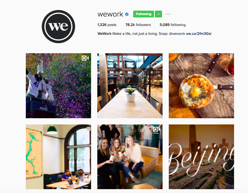 Best Instagram Brands: 10 Creative Brands to Follow for Inspiration: WeWork