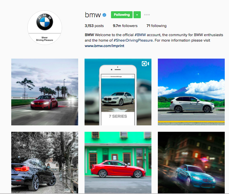 Best Instagram Brands: 10 Creative Brands to Follow for Inspiration: BMW