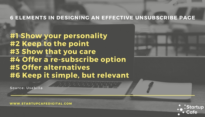 Unsubscribe Pages: 6 Elements in Designing an Effective Unsubscribe Page