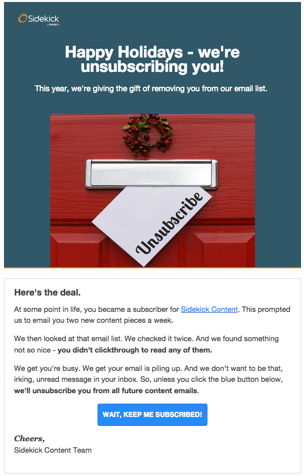 Sidekick Unsubscribe Email - 5 Creative Unsubscribe Page Examples
