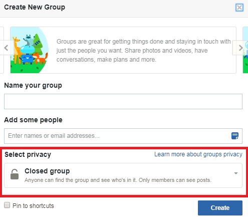 Privacy Settings - FB Group